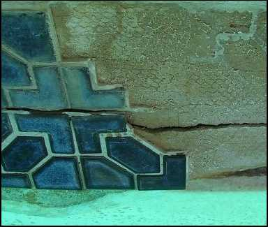 pool tile crack